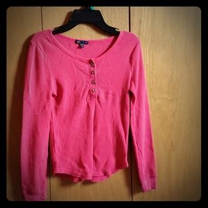 Pink long sleeve gapkids shirt